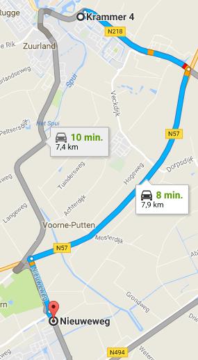 Route Kluisverhuur Voorne Putten